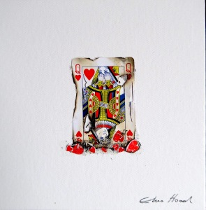 Broken-Queen-20x20cm-playing-card-collage-on-canavas-board